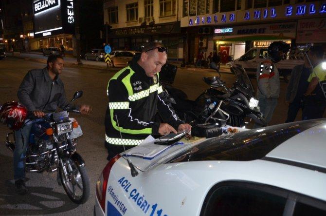 Ereğli'de polisten motosiklet uygulaması