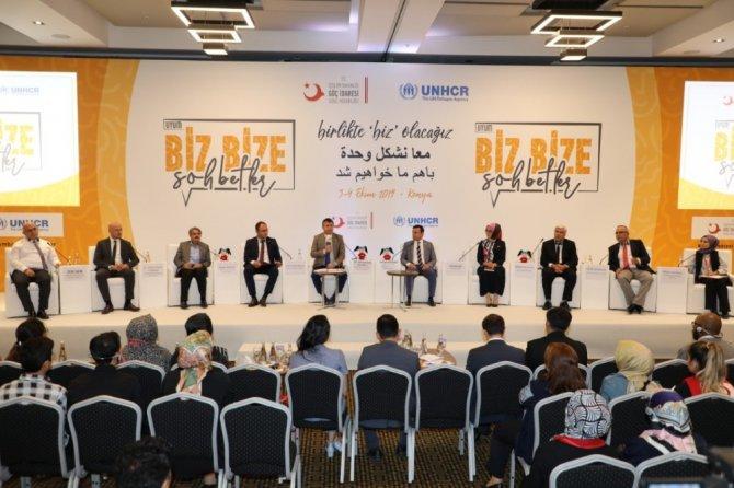 Konya'da 'Uyum Biz Bize Sohbetler' etkinliği gerçekleştirildi