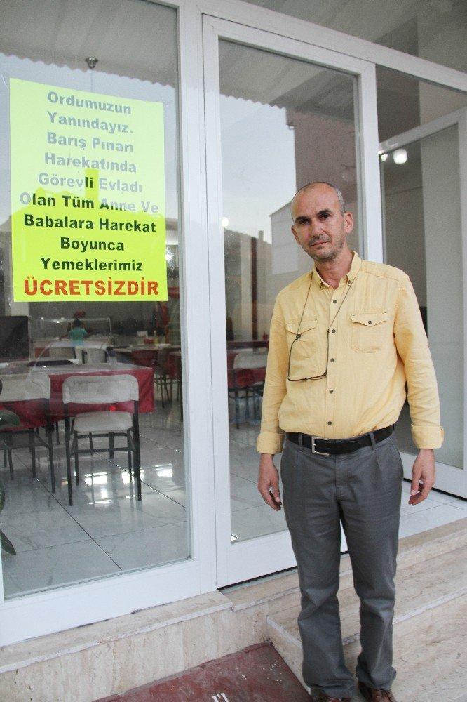 Lokanta sahibinden Barış Pınarı Harekatı'na katılan askerlerin ailelerine anlamlı destek