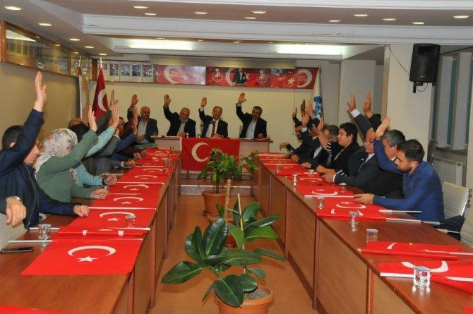 Akşehir Belediye Meclisinden Barış Pınarı Harekatı'na destek