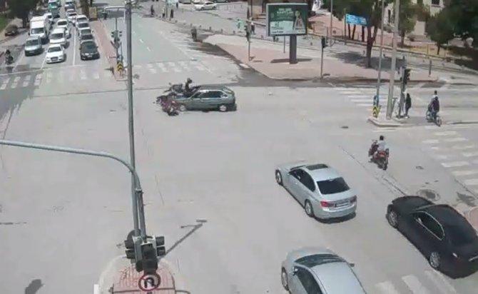 Konya'daki kazalar şehir polis kameralarında