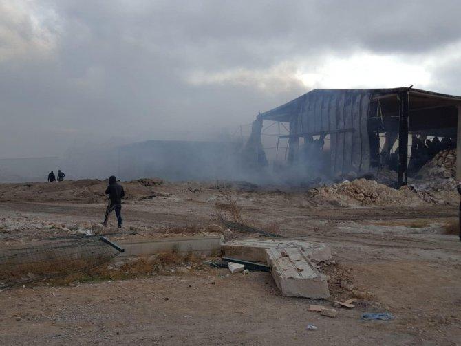 Konya'daki fabrika yangının çıkış anı güvenlik kamerasında