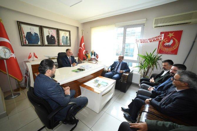 Başkan Altay, MHP İl Başkanı Karaarslan'ı ziyaret etti
