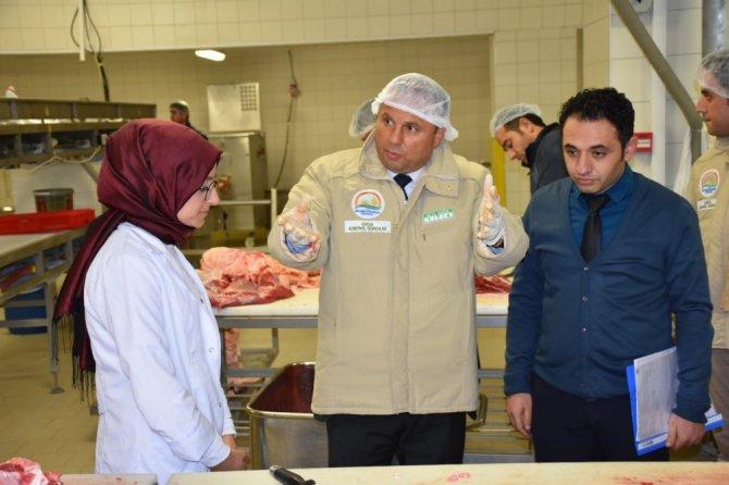 Aksaray'da et tesisleri denetleniyor