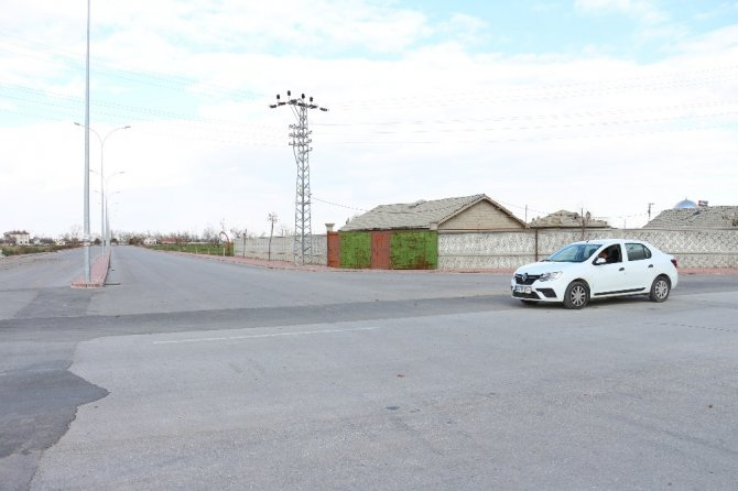 Konya'da iki otomobilin çarpışma anı kamerada