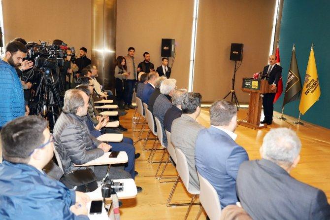 Başkan Altay, Konya basınıyla bir araya geldi