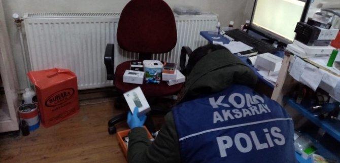 Aksaray'da kaçak elektronik sigara operasyonu