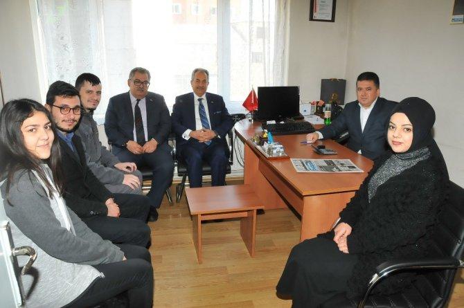 Başkan Akkaya'dan yerel gazeteler ve radyolara ziyaret