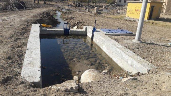 Aksaray'da köylerin yerüstü sulama tesisi tamamlanıyor