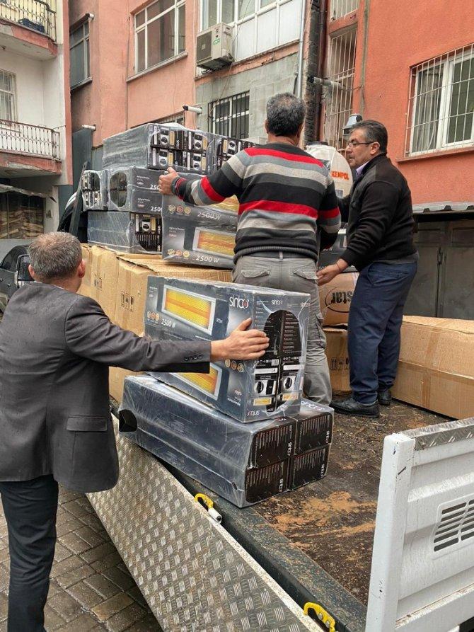Aksaraylı çiftçilerden Elazığ'a ısıtıcı yardımı
