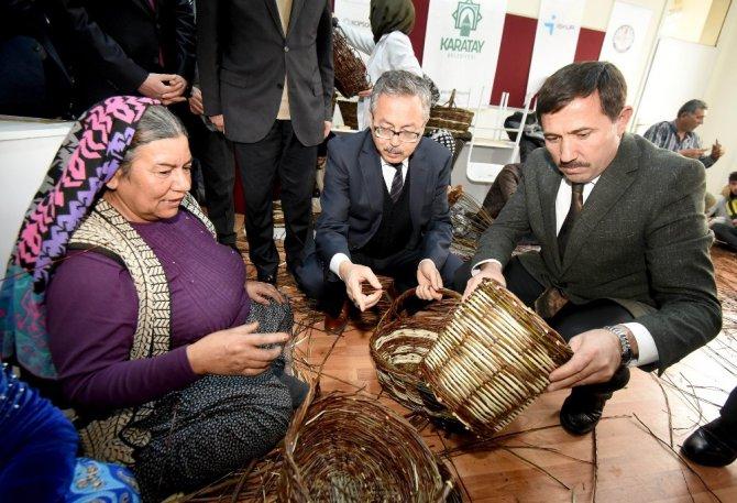 Karatay'da hasır ve sepet sanatı yeniden canlandı