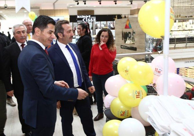 Aksaray'da Acil Çağrı Merkezi tanıtım standı açtı