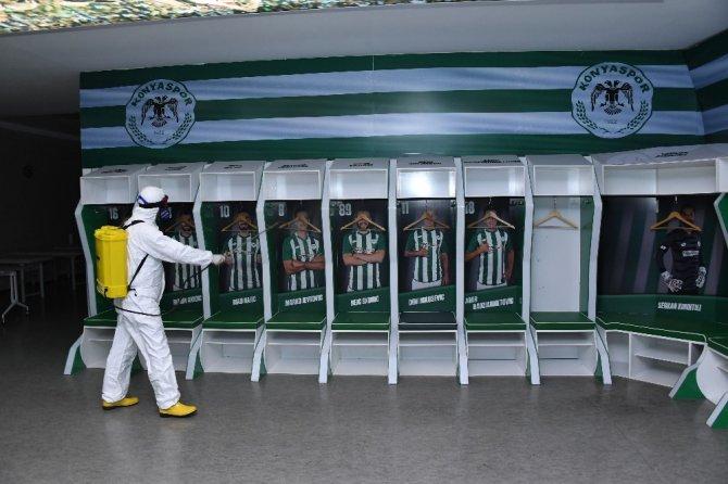 Konya stadı, Fenerbahçe maçı öncesi dezenfekte edildi