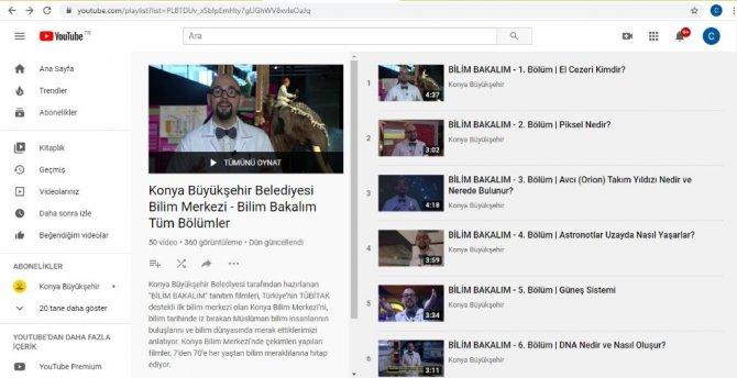 Konya Büyükşehir Belediyesi öğrenciler için eğitici filmler yayınlıyor
