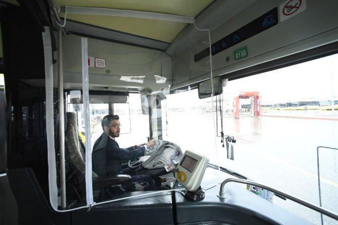 Konya Büyükşehir'den otobüslere şeffaf koruma kabini