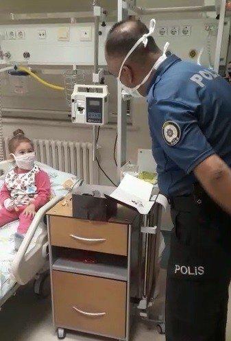 """""""Hani bana"""" diyen çocuğun isteğini polis geri çevirmedi"""