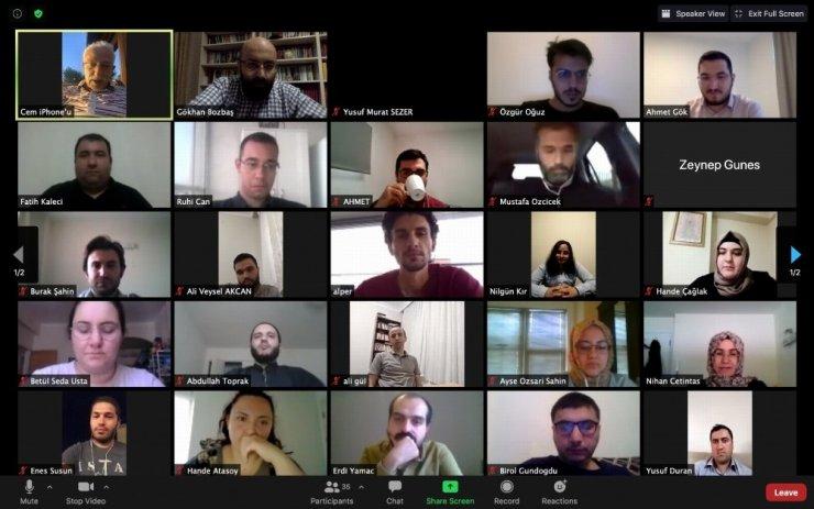 NEÜ Rektörü Zorlu, YLSY bursiyerleriyle online toplantıda buluştu