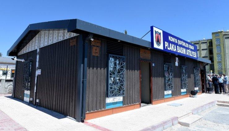 Karatay Belediyesinden Galericiler Sitesi'ne plaka basım merkezi