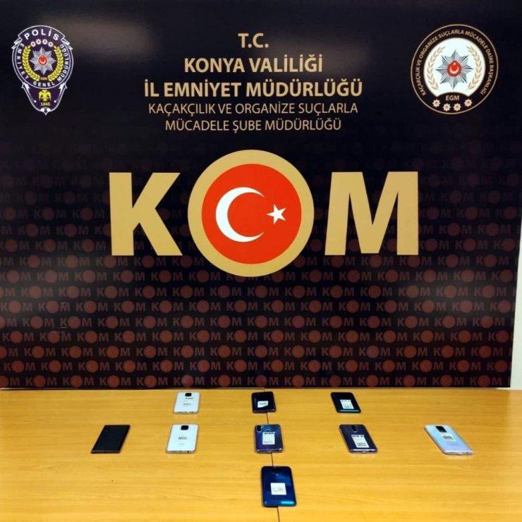 Konya'da esrar, kaçak telefon ve nargile tütünü yakalandı