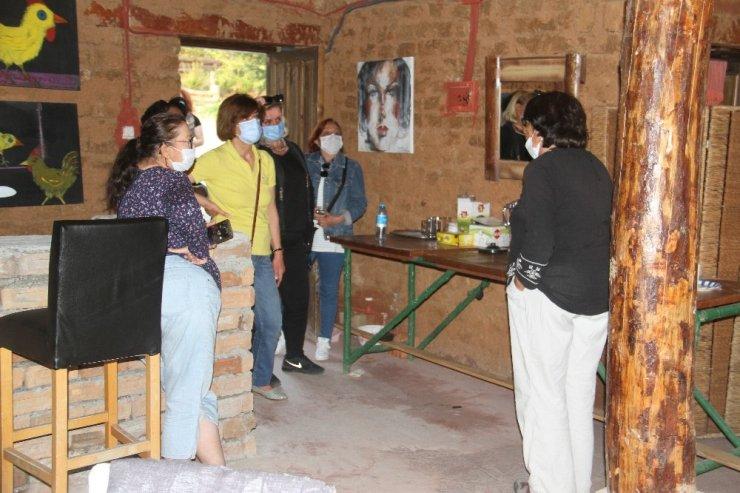 Sanatçı köyündeki etkinlikler pandemide de sürüyor