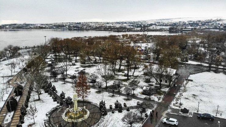 Başkent'tin kartpostallık kar manzaraları havadan görüntülendi
