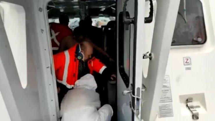 Bartın'da batan gemiden kurtarılan personelin görüntüleri ortaya çıktı