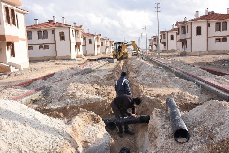 Su altında kalacak mahallenin yeni konutları tamamlanıyor
