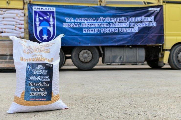 Ankara Büyükşehir Belediyesi nohut tohumu desteğini başlattı