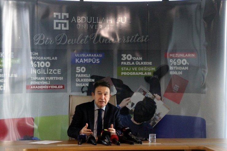 """AGÜ Rektörü Sabuncuoğlu: """"Bu güzel şehre 13 ödül getirdik"""""""