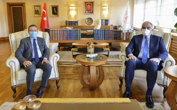 Başkan Ataç, Bakan Ersoy ile görüştü