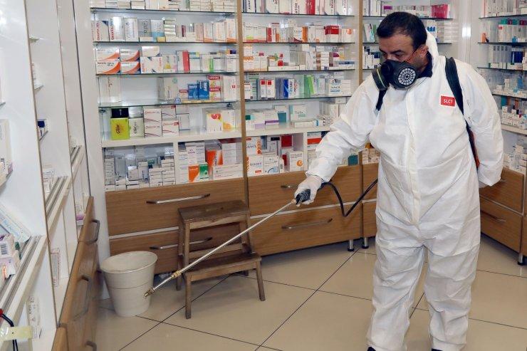 Çankaya'da dezenfekte çalışmaları tüm hızıyla devam ediyor