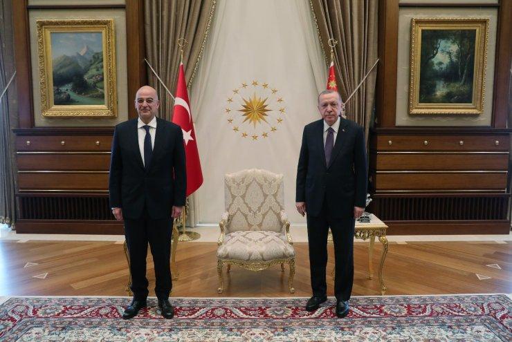 Cumhurbaşkanı Erdoğan, Yunanistan Dışişleri Bakanı Dendias'ı kabul etti