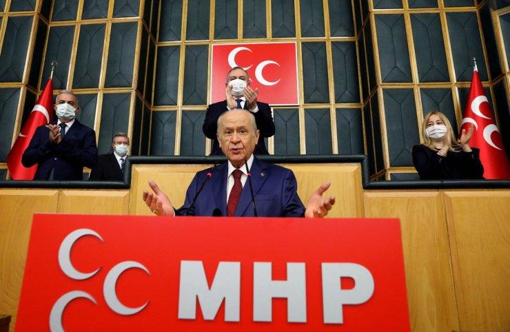 """MHP lideri Bahçeli: """"Akdeniz'in güvenliğini tehdit eden yegane ülke Yunanistan'dır"""""""
