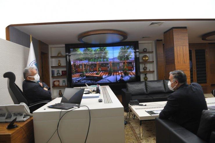 Başkan Cabbar ve Develi Belediyesi Voleybol takımından Başkan Büyükkılıç'a ziyaret
