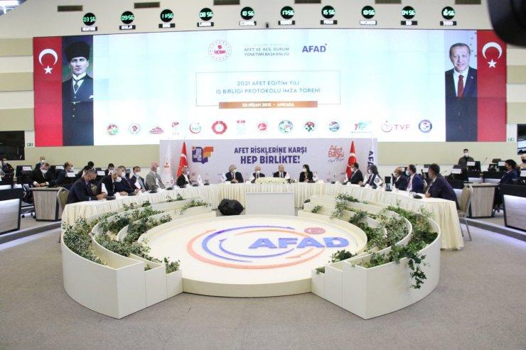 """AFAD ile 14 spor branş federasyonu arasında """"Afet Eğitim İşbirliği Protokolü"""" imzalandı"""