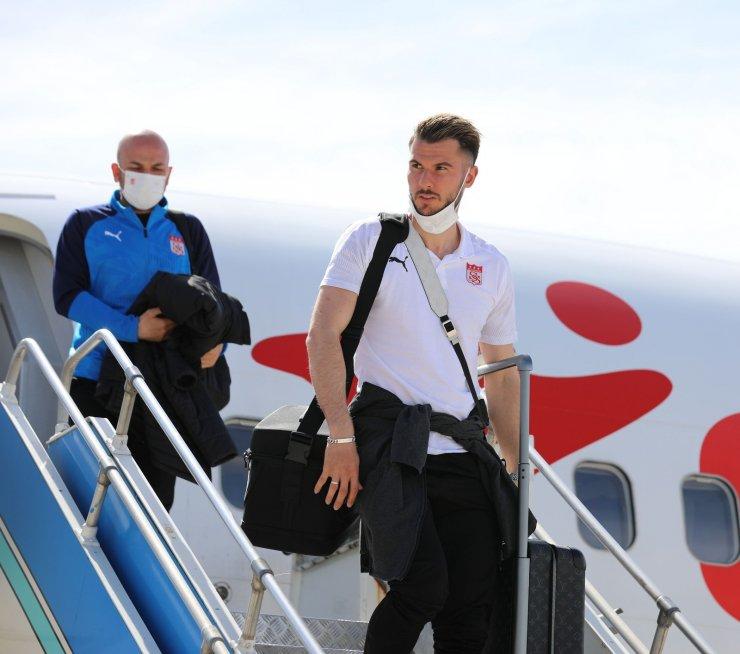 Sivasspor, Denizli'ye ulaştı