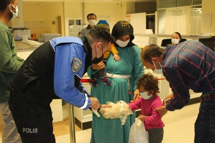 Polatlı Kızılay yetim ve hasta çocukların yüzünü güldürdü