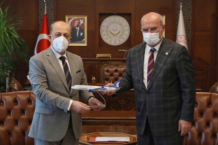 ATO Heyeti'nden Çalışma ve Sosyal Güvenlik Bakanı Vedat Bilgin'e ziyaret