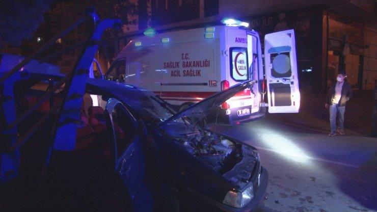 Kayseri'de 6 kişinin yaralandığı feci kaza kamerada: Ortalık savaş alanına döndü