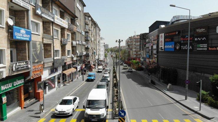 Nevşehir'de kısıtlamada trafik yoğunluğu yaşanıyor