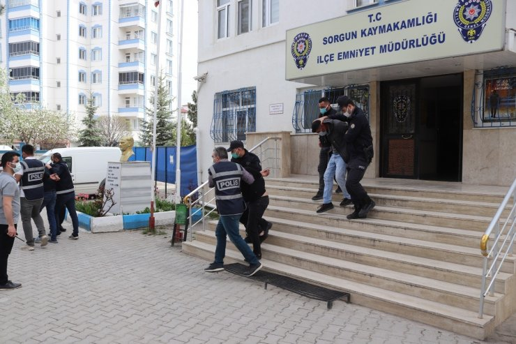 Sorgun'da İnşaatlardan hırsızlık yapan 5 kişi yakalandı