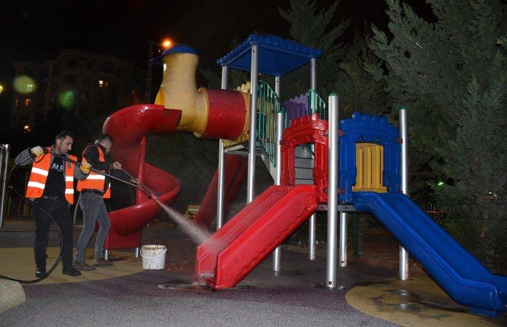 Keçiören'deki parklarda bayram sonrasına hazırlık