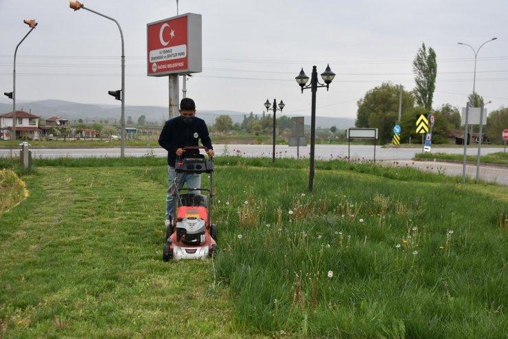 İnönü'de bahar hazırlıkları tüm hızıyla devam ediyor