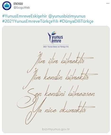 Yunus Emre ve Türkçe Yılı'na özel web sitesi kuruldu