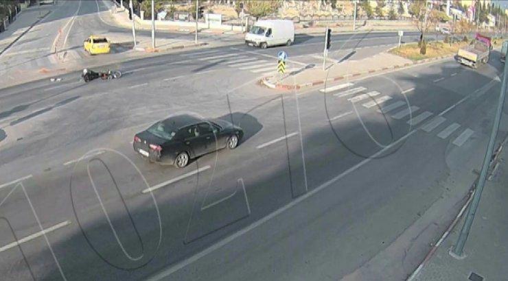 Karaman'da trafik kazaları şehir polis kamerasına yansıdı