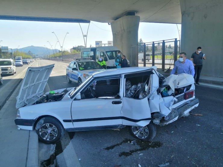Kayseri'de zincirleme trafik kazası: 4 yaralı