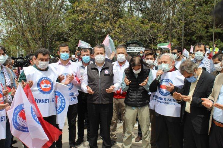 Başkent'te sendikalardan ve STK'lardan İsrail'e tepki