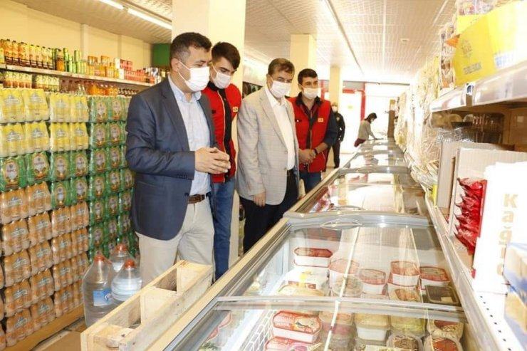 Yeşilhisar'da zincir marketler ve pazar yerinde denetimler sürüyor