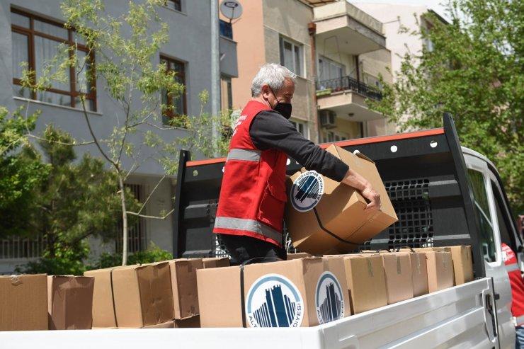 Altındağ Belediyesinden tam kapanmada faaliyet gösteremeyen esnafa gıda kolisi desteği