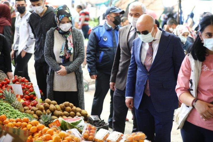 Keçiören semt pazarlarında pandemi denetimi yapıldı